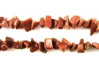 The synthetic Sunstone (goldstone) x 25 chips