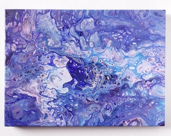 "Abstract Art Acrylic Painting Original | ""Raindrops"" 26cm x 36cm Canvas"