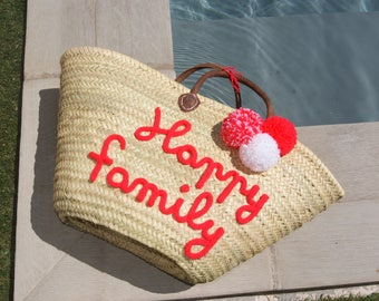 Personalized Tote knitting with tassels