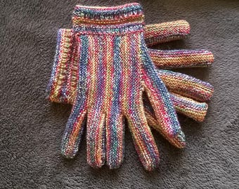 Handknitted gloves woman
