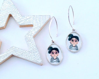 Earrings collection at the top sailor girl