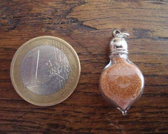 """""""Désert"""" chain silver pendant: tiny vial of authentic sand from the Libyan desert"""