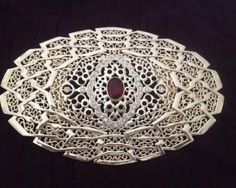For wedding plated belt buckle gold stones & rhinestones