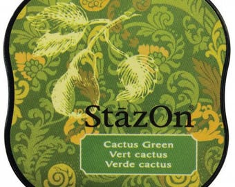 Ink permanent Green Cactus - StazOn Midi - Ref TSSZM052
