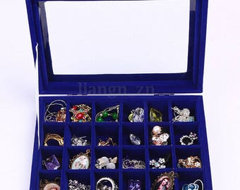 Box jewelry display ring necklace. 22x15.5x5cm within 15 days