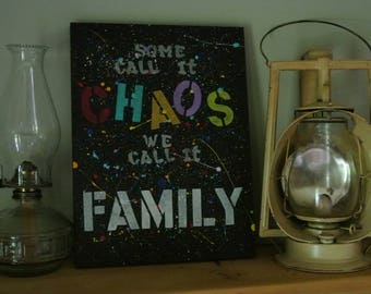 "Wooden sign ""family"""