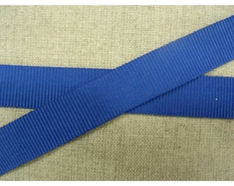 Ribbon grosgrain decorative 15 mm - blue