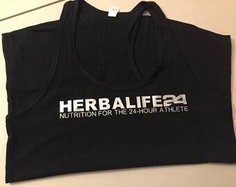 Black Herbalife 24 Racerback
