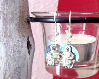 Earrings ladybugs Pearl sequins