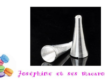 1 Cup 23 x 10 mm silver Pearl 8-10mm