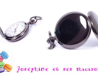 Black 1 gray pocket watch