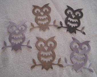 Lot cuts, dies, embellishments, tags, owl, scrapbooking