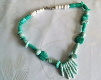 Choker necklace green 'coral'