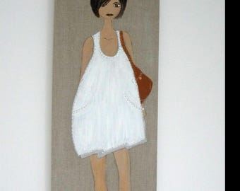 paintings models female in acrylic paint for home decor