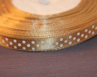 5 m jewelry scrapbooking dot light brown satin ribbon