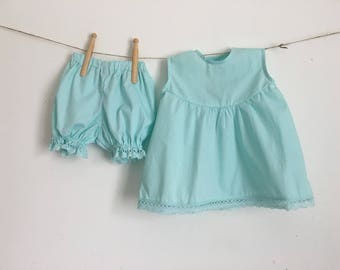 The dress and bloomers for the summer