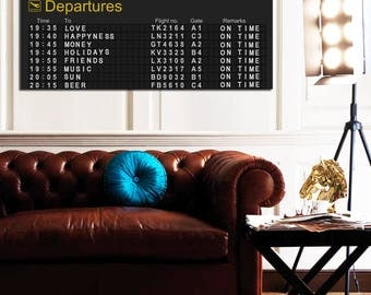 Painting canvas print panoramic customizable airport