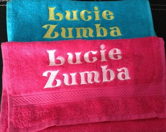 """Small towel """"guest"""" embroidery text customized"""