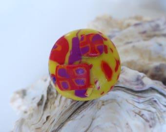 Ring adjustable joyful red yellow purple orange