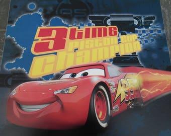 Square wall decal boy car Cars Flash Santa Claus 29 cm