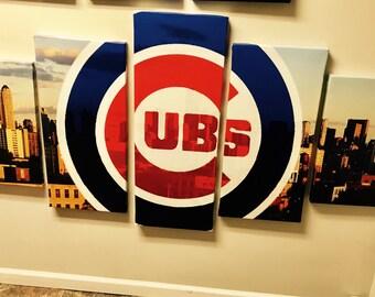 XL chicago cubs wall canvas 5 panel modular