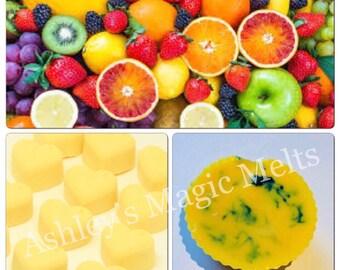 Tropical wax melts, scented wax cubes, wax tarts, best wax melts, soy wax melts, fruity wax melts, strong wax melts, cheap wax melts