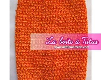 Girl ★ ★ 7/8/910 years stretch crochet tutu dress strapless ORANGE