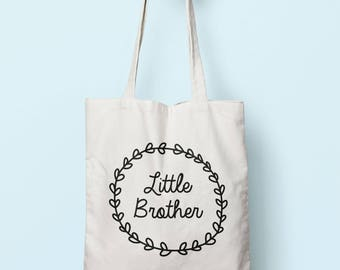 Little Brother Tote Bag Long Handles TB0170