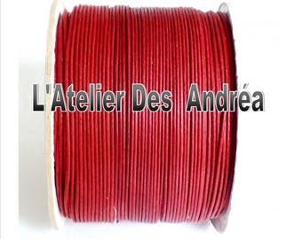 2 YARDS OF 1 CRIMSON RED WAXED CORD X MM