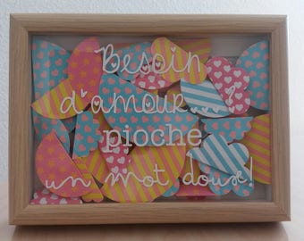 FRAME, original and personalized messages