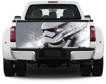 Truck Tailgate Graphics Star wars Stormtrooper Vinyl Decal color Sticker Wrap