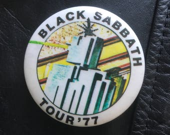 1977 'Black Sabbath' Pin Badge