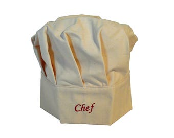 Adjustable and customizable kids chef Hat