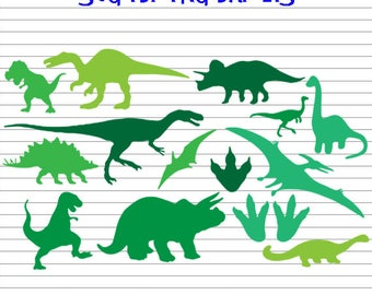 Dinosaurs Svg, Dinosaur Clipart, Dinosaurs, Dinosaurs dxf, Silhouette and cricut files, Dinosaurs Clip Art, dxf png eps pdf svg