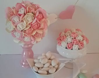 Ball of EVA and paper flowers or foam colors custom as centerpiece
