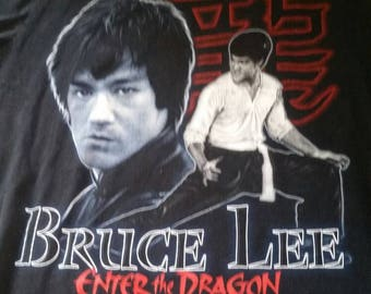 "Bad ass Bruce Lee ""enter the dragon"" 90s tee"