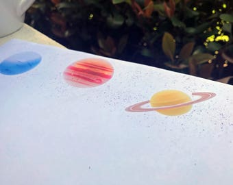 Printable Stationery Planets 1