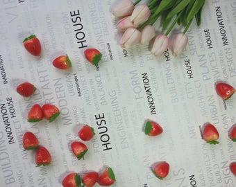 5pcs Artificial Strawberries / Artificial Fruits / Artificial Food / Fake Fruits / Faux Fruits /Food Photography Props/Fake Food Props (AF9)