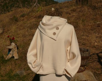 Organic women 100% cotton FLEECE SWEATSHIRT