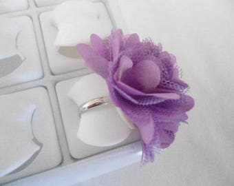 fabric flower ring Adjustable ring
