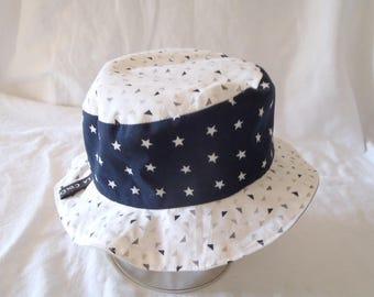 Hat - Reversible bucket Hat - 6-9 months (47 cm in diameter)