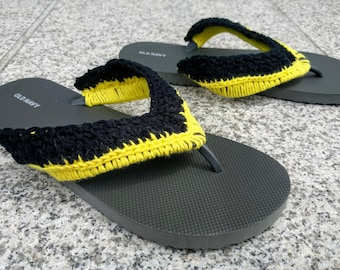 Crochet Superhero Flip Flop Sandals - Bruce