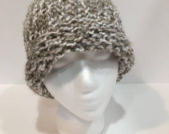 Ladies Gray Knit Hat