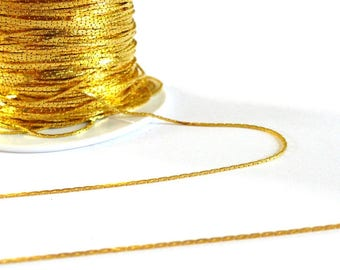 Fine 1 meter - gold color chain