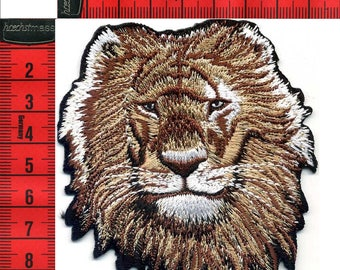 LION shield embroidered iron or sew 8 X 10 Applique Patch
