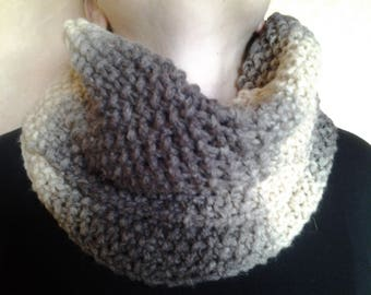 New Snood in shades of Brown and beige knit