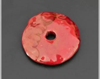 Red donut ceramic 4.5 cm