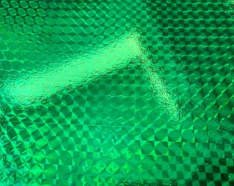 A4 paper recyclable holographic - different patterns - vivid - green / crystals 2 pattern