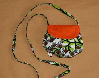 My first purse, cotton and African Ankara orange