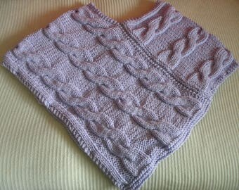 Purple cable poncho